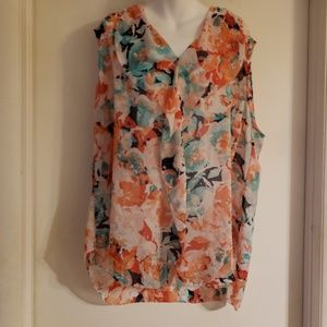Ladies Liz Claiborne sheer blouse
